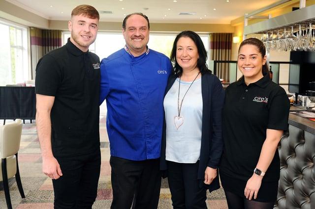 The brand new Ciro's at Glenbervie Italian restaurant  is run by the Cirillo family -  Cameron, Ciro, Nikki and Fabi