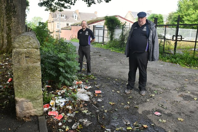 Our Place Camelon and Tamfourhill's Dan Rous and John Hosie are looking to deal with litter - just one of the issues identified in group's recently published community safety strategy
