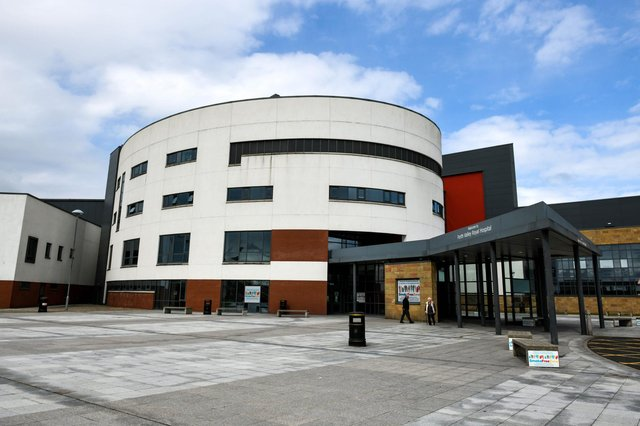 Larbert resident Connor Swanston kicked off at Forth Valley Royal Hospital where he behaved threateningly towards staff. Picture: Michael Gillen.