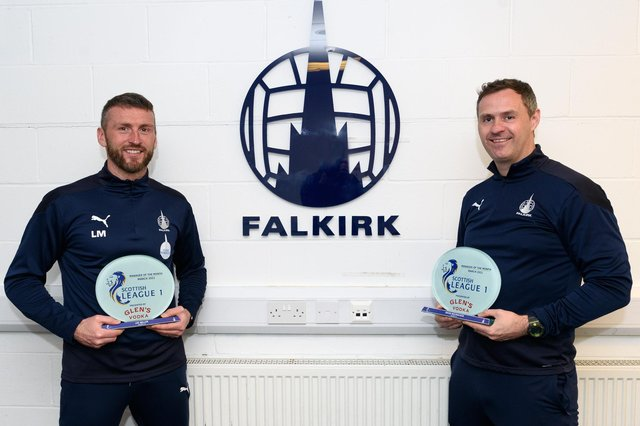 Lee Miller and David McCracken presented with March's Manager of the Month award