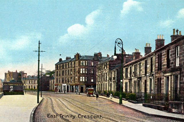 East Trinity Crescent, today Trinity Crescent, has hardly changed at all since Edwardian times