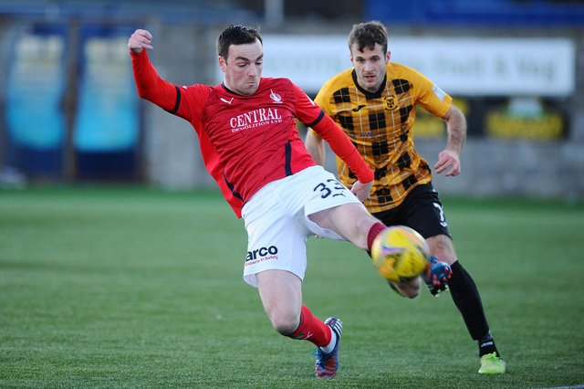 Sean Kelly made 16 appearances during his time with Falkirk (Pic: Michael Gillen)
