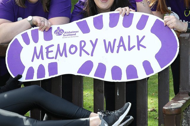 The Alzheimer Scotland annual Memory Walk takes place on the weekend of September 18 and 19 this year