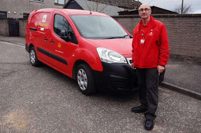 Falkirk man and Royal Mail driver Paul Young is retiring after 47 years with the company on April 2.Picture: Michael Gillen.