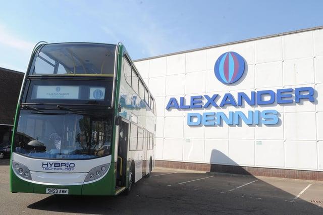 Alexander Dennis bus manufacturers in Falkirk.