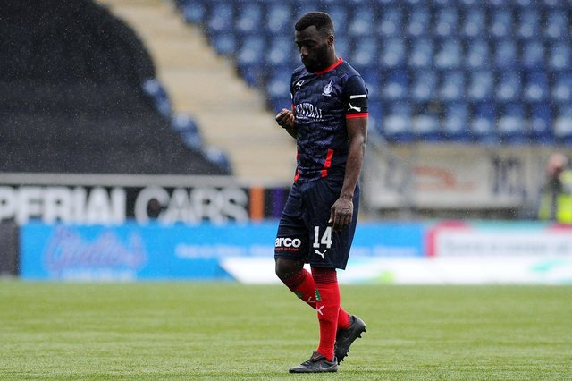 Morgaro Gomis left Falkirk this month and has now signed for fellow League 1 side Clyde