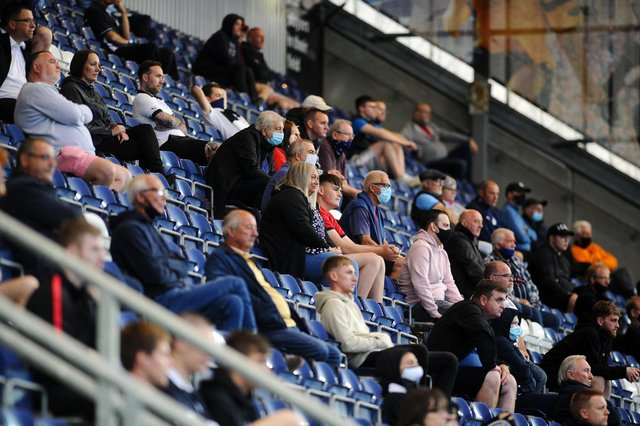 Falkirk welcomed fans back for the first time in almost 500 days with a crowd of 686 supporters in attendance for their 5-1 win over Albion Rovers