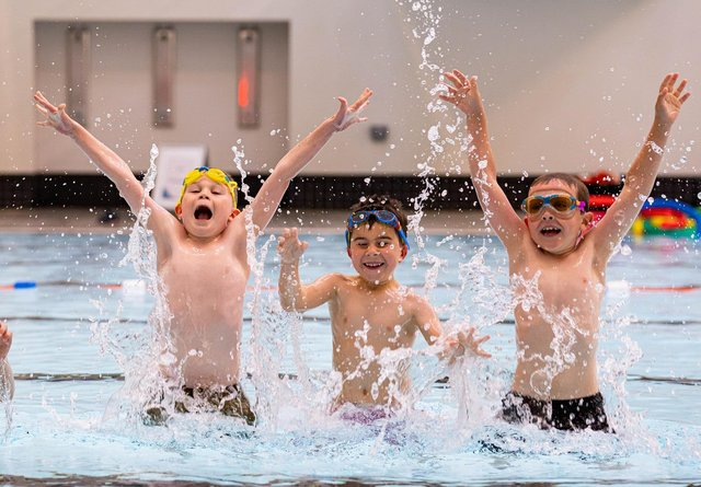 Children enjoyed a long awaited return to swimming lessons at Falkirk area pools this week