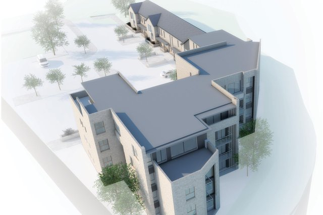 A drawing of how properties at Ochilview Developments' No 1 Old Bellsdyke Road site will look. Contributed.