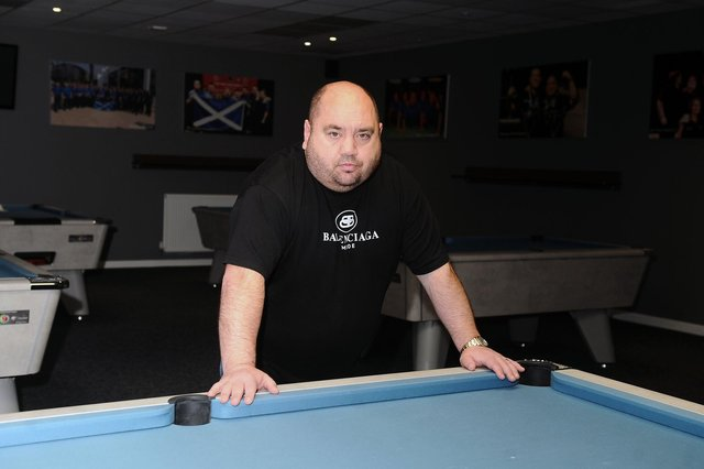 Steven Allison, who runs The Players Lounge in Falkirk, is seeking an explanation from the Scottish Government on why snooker and pool halls can't open until June at the earliest. Picture: Michael Gillen.