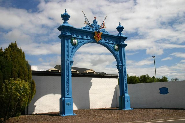 The Grahamston Arch as it stands today.