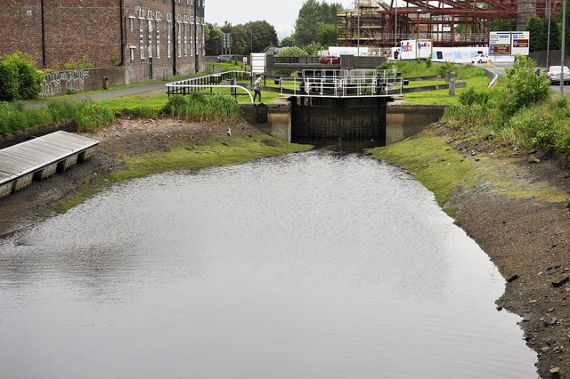 The water level of the Forth and Clyde Canal at Rosebank remains low due to an issue with a Monkland pipeline. Picture: Michael Gillen.