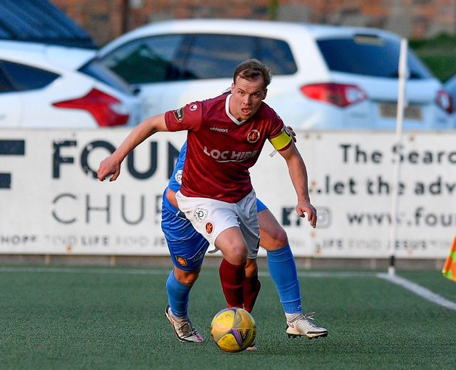 Jonathan Tiffoney was Stenhousemuir captain for the night and has denied the claims made against him following the match. (Picture: Dave Johnston)