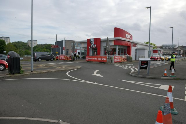 Amanda Miller shouted and swore at ambulance staff at Falkirk's KFC. Picture: Michael Gillen.