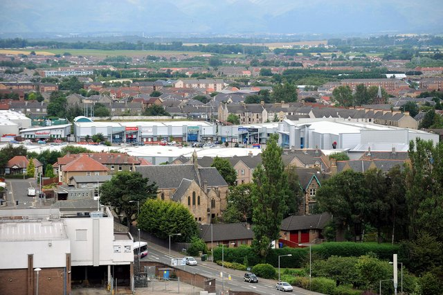 Falkirk's massive Central Retail Park has been put up for sale for the second time in the space of a year