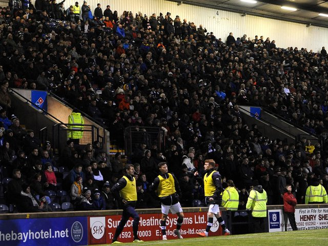 Home supporters at the recent Ladbrokes League 1 clash between title rivals Raith Rovers and Falkirk