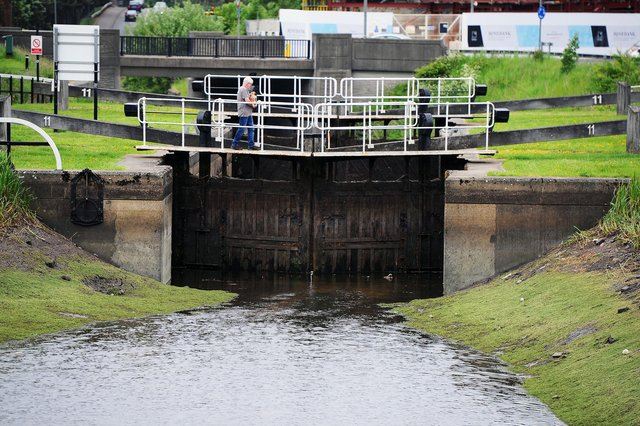 Forth and Clyde Canal at Rosebank where the water level is very low (Pic: Michael Gillen)