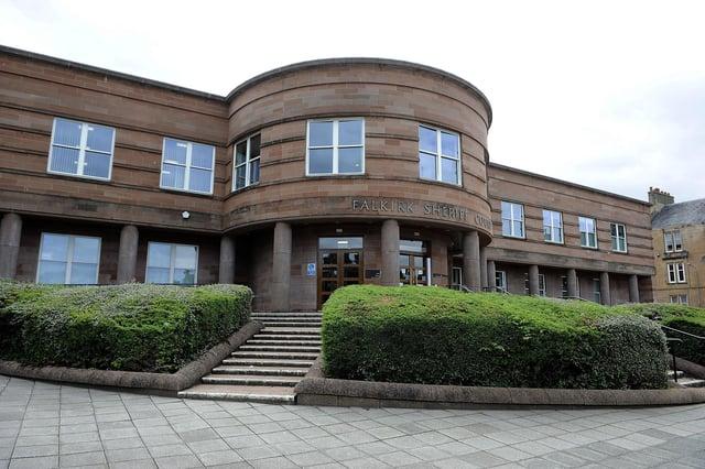 Andrew Dewar, of Grangemouth, appeared at Falkirk Sheriff Court last week. Picture: Michael Gillen.