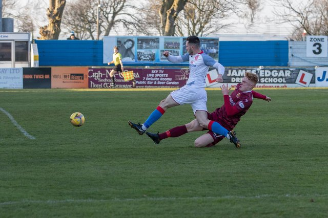 A 4-0 defeat at Stranraer last Thursday ended Stenny's hopes of a top half finish and push for a promotion play-off spot (Pic: Bill McCandish)