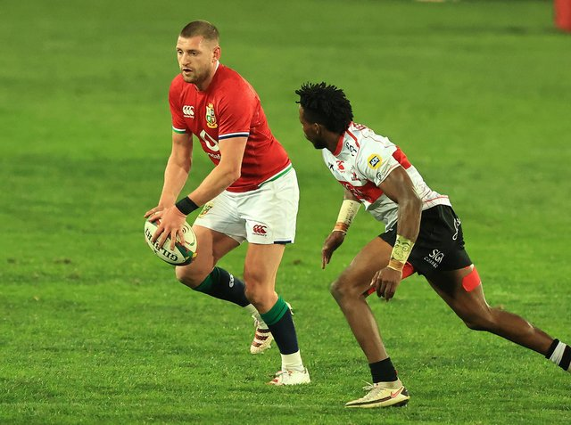 Finn Russell assisted two scores as the British & Irish Lions won 56-14 (Photo by David Rogers/Getty Images)