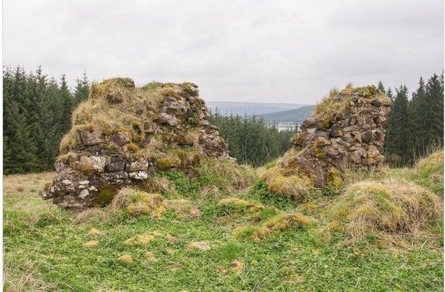 Remains of Sir John de Graeme's Castle in Carron Valley.