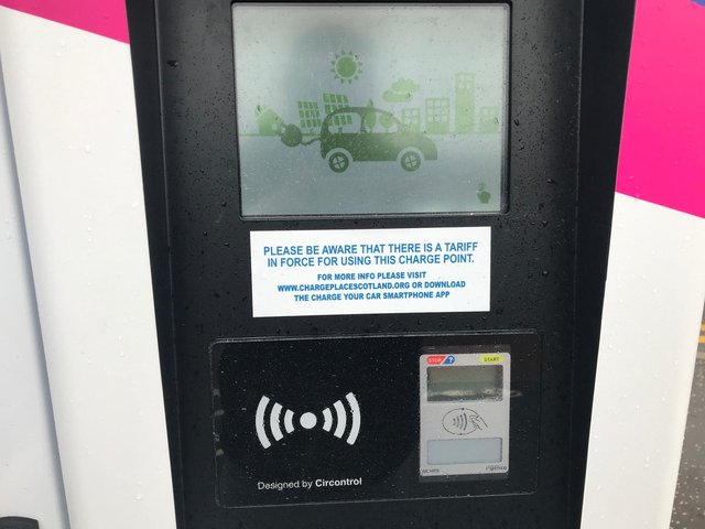 The charges came into force from April 19 at charging points in the Falkirk Council area