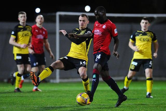 New signing Jaime Wilson in action for Dumbarton against Falkirk last season (Pic: Michael Gillen)