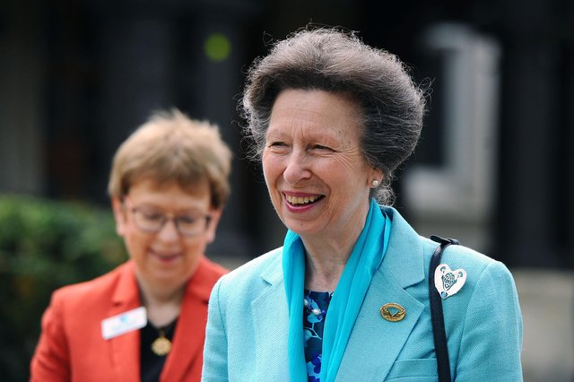 Her Royal Highness, The Princess Royal, visited Strathcarron Hospice today.