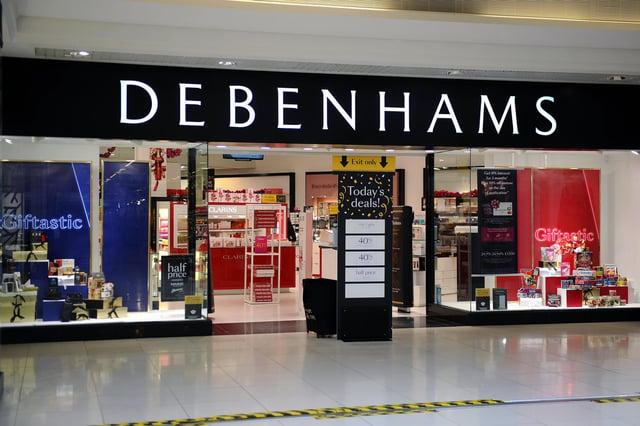 Falkirk's Debenhams store will close in May, the retailer has confirmed. Picture: Michael Gillen.