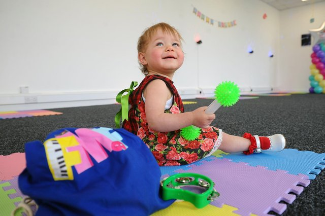 Willow Faulds, 14 months at Fun Music Factory