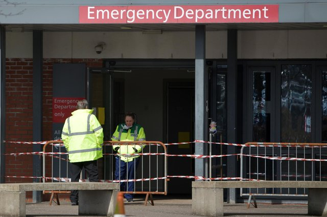 Forth Valley Royal Hospital's emergency department has come under fire following reports of bullying of staff by management. Picture: Michael Gillen.