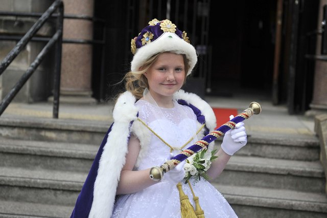 Newly crowned Grangemouth Children's Day Queen Amy Meichan