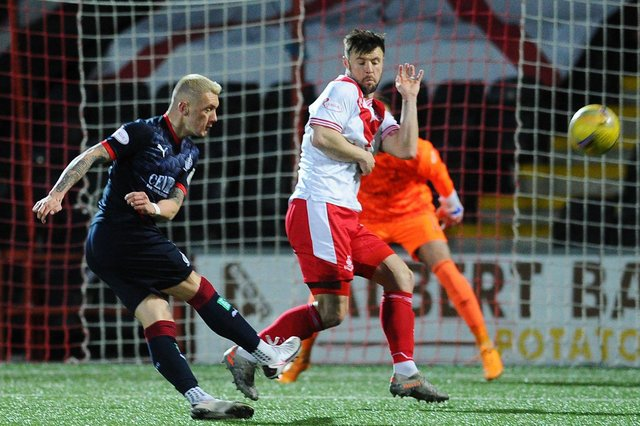 Airdrie and Falkirk in action at the Penny Cars Stadium (Pic by Michael Gillen)