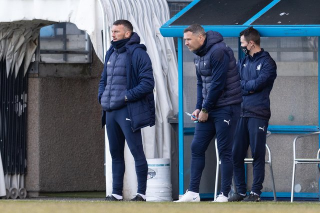 Falkirk co-manager David McCracken says he and Lee Miller sill have a job to do until they don't