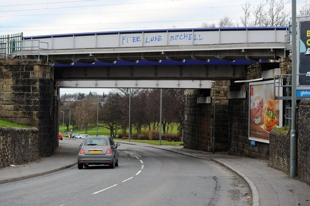 Luke Mitchell related graffiti is spreading all over the Falkirk area with more slogans appearing in Stirling Road, Camelon, and the canal at the Kelpies, as well as in Zetland Park,  Grangemouth