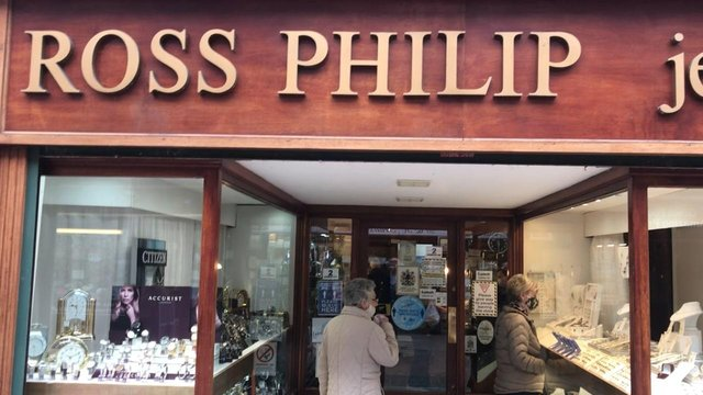 Long established Grangemouth town centre business Ross Philip Jewellers was allowed to open its doors to customers again after lockdown