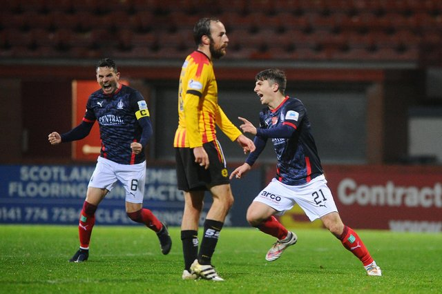 Charlie Telfer scored some big goals last season including a late equaliser against Partick Thistle at Firhill early in the campaign
