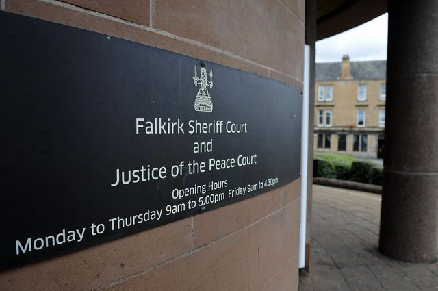 Kincardine resident David Morrison appeared at Falkirk Sheriff Court after driving in Bank Street, Falkirk while banned from the roads. Picture: Michael Gillen.