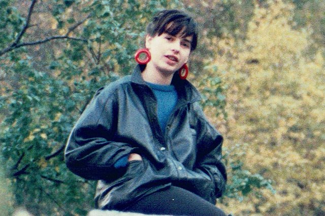 The author of Phosphate Rocks, Fiona Erskine, in her younger SAI years