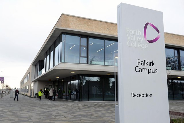 Classes will be cancelled for two days at Forth Valley College's three campuses due to lecturer strikes. Picture: Michael Gillen.