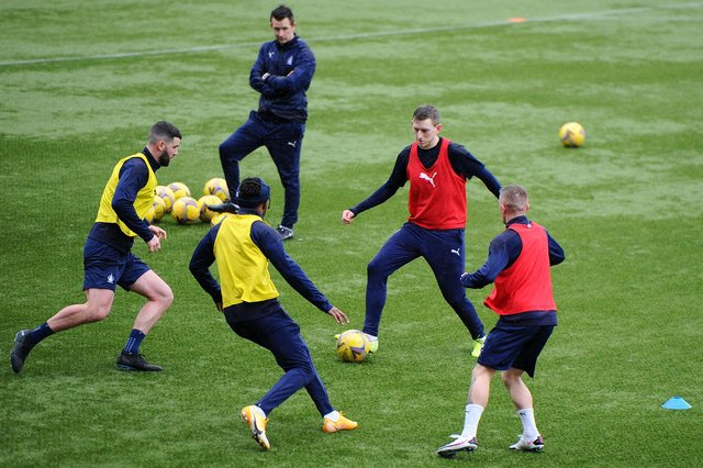 Falkirk players have been back in training for the first time since early January this week