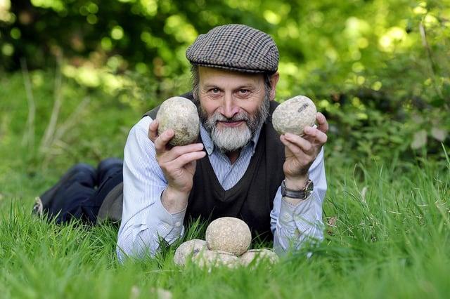 Geoff Bailey, Falkirk Community Trust's heritage engagement officer. Picture: Michael Gillen.