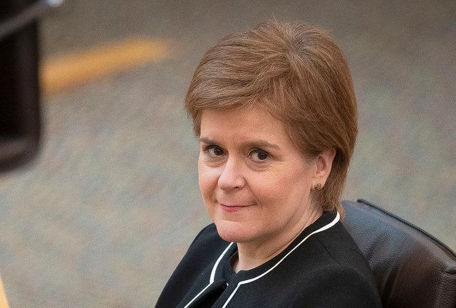 Scotland's First Minister Nicola Sturgeon  (Photo by JANE BARLOW/POOL/AFP via Getty Images)