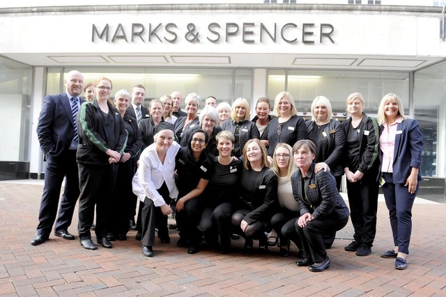 M&S staff on the last day of trading on August 11, 2018