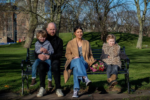 Leigh Young, from Falkirk launched her own florist business after being furloughed from her role as a store manager with Top Shop in Stirling.  It is a family business with help from husband Stuart, and children o Edie (7) and Sonny (4)