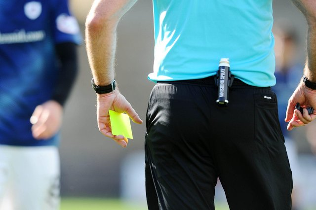 Which team has the worst disciplinary record across Scotland's top four divisions?