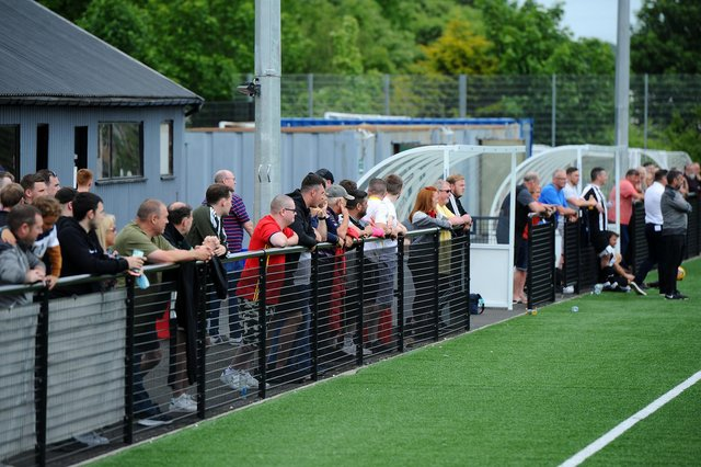 Football fans in Falkirk attended a game for the first time since lockdown started inMarch 2020 (Pic: Michael Gillen)