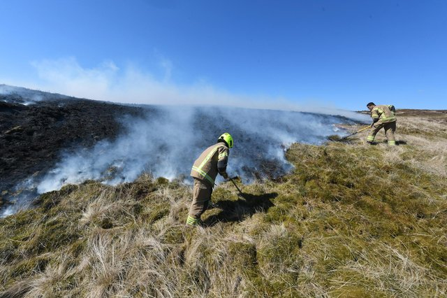 Scottish Fire and Rescue Service is warning of a high to extreme risk of wildfires in the Central Scotland area until April 17
