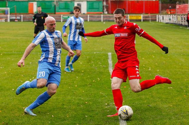 Camelon striker Alan Docherty has joined Stenhousemuir on-loan