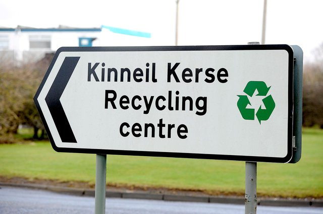Staff at Kinneil Recycling Centre pulled out all the stops to help Pamela get her wedding  and engagement rings back